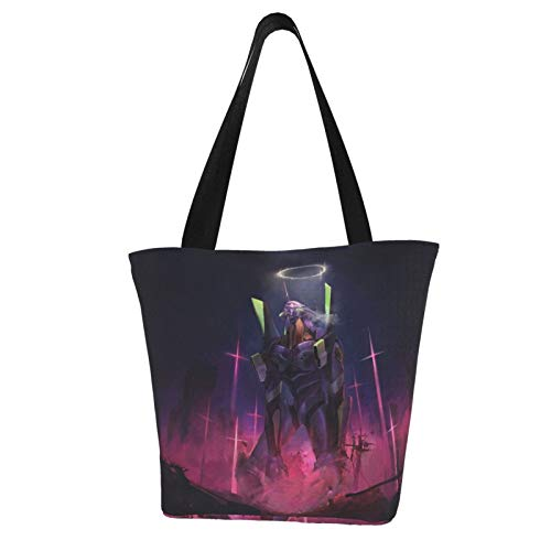 Anime Neon Genesis Evangelion Women's Large Handbag Top Handle Zipper Bag...