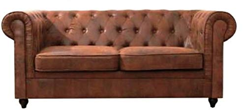 Home Plus Lifestyle 3 Seater Sofa Set for Living Room (Colour-Brown)
