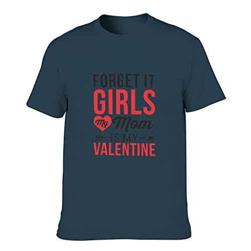 """Camiseta de algodón para hombre, diseño con texto en inglés """"Sorry Girls My Mom is My Valentine"""" azul marino L"""