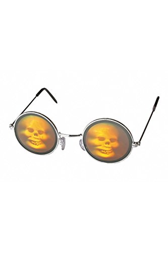 Wilbers 20005 Hologramm Brille Totenkopf