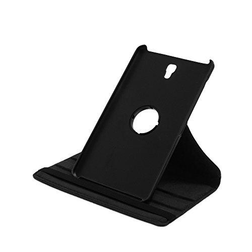 Drehbare Hülle mit Standfunktion für Samsung Galaxy Tab S 8.4 in SCHWARZ mit automatischer Sleep- & Wake-Up-Funktion [passend für Modell SM-T700, SM-T705]