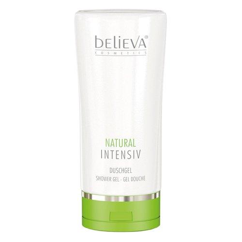 Believa Natural Intensiv Duschgel für empfindliche Haut. Bei Neurodermitis und Psoriasis (Schuppenflechte) anwendbar. Milde Reinigung - 200ml