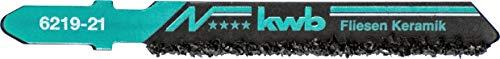 Kwb 6219-21 - Azulejos hojas de sierra y procesamiento de cerámica, eje de lengüeta única