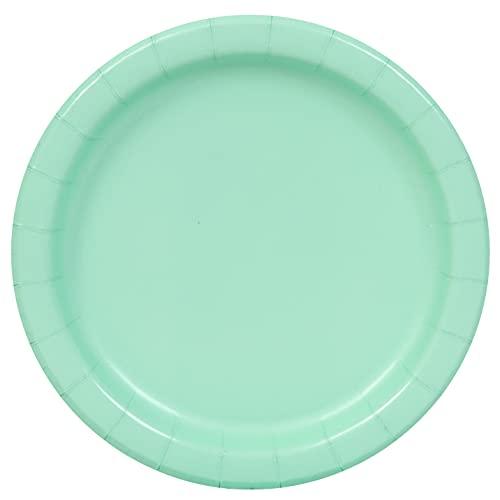 Unique Party- Assiettes en Carton Écologiques-23 cm-Couleur Vert Menthe-Paquet de 16, 99225EU, Mint Green