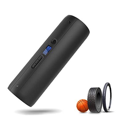 szlsl88 Hogedruk-luchtpomp, 150 psi, draagbare elektrische pomp met LCD-display, mini-luchtpomp voor outdooractiviteiten fiets, auto, banden, noodtool