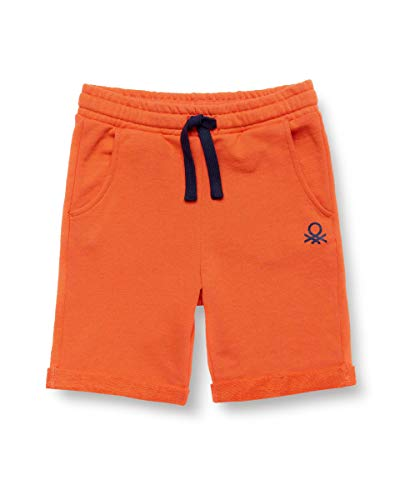 United Colors of Benetton Bermuda Pantalones Cortos, Naranja (Tigerlily 309), 80/86 (Talla del Fabricante: 1Y) para Bebés