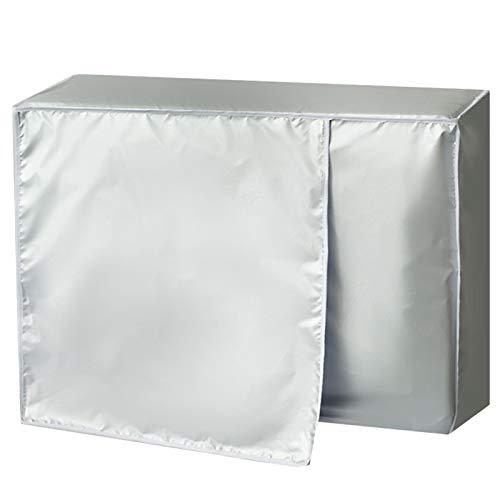 Cubierta de aire acondicionado, práctica funda protectora para acondicionador de aire acondicionado para protección al aire libre (80 x 57 cm)