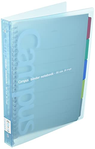 1 X Kokuyo Campus loose-leaf binder slide for one-touch light blue B5 binding device up to 100 miles-P333NLB (japan import)