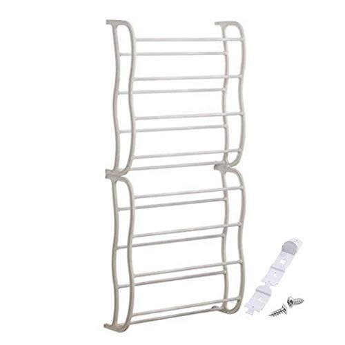 BXU-BG Zapatero 24 pares de ganchos para puerta de 8 capas ajustable estante almacenamiento rack almacenamiento almacenamiento almacenamiento almacenamiento ahorro espacio
