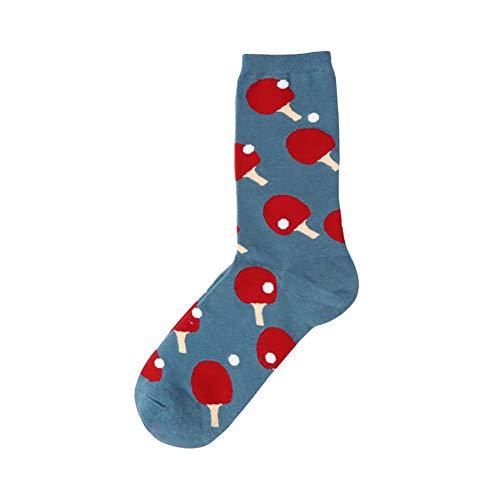 1 Paar Männer Starke warme beiläufige Baumwolle Socken Winter Terry Crew Socken für Kaltes Wetter (Tischtennis-Schläger-Muster)