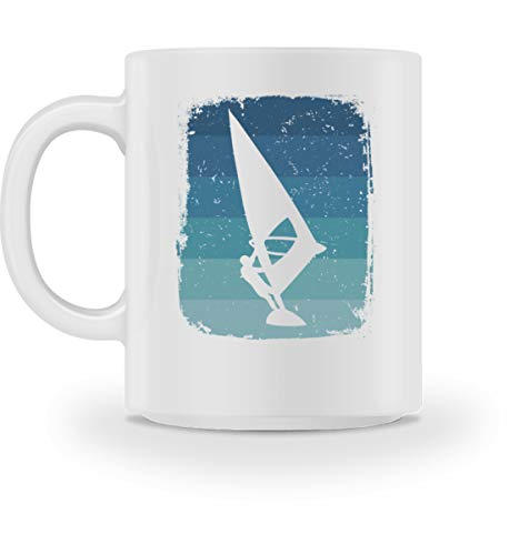 Generisch Windsurfen Wassersport Retro taza | Windsurfer Vintage Cool taza de café Blanco M
