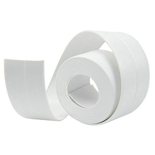 Keuken Badkamer Douchebak Bad Afdichtstrip Tape PVC Zelfklevend Waterdicht Muursticker Anti-schimmel Vuilafstotende Strips, Wit, 38mm