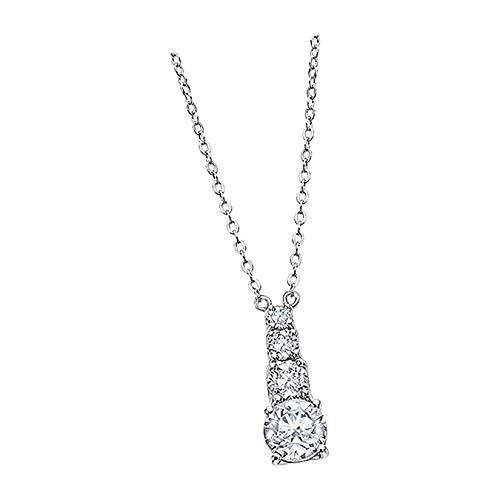 Lotus Silver Collar Swarovski Elements LP2012-1/1 Plata Glamour D1JLP2012-1-1 Collar de plata de Lotus Silver para la mujer