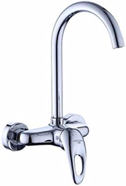 ETERNAL QUALITY Badezimmer Waschbecken Wasserhahn Messing Hahn Waschraum Mischer Mischbatterie Die messinggehuse Tippen in die Wand und kalten Wasserhahn Küche Wasserhah