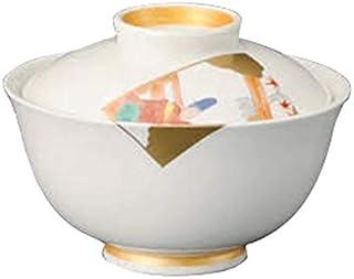 錦百人一首蓋向 [ 10.7 x 8cm ] 【 円菓子碗 】 【 料亭 旅館 和食器 飲食店 業務用 】