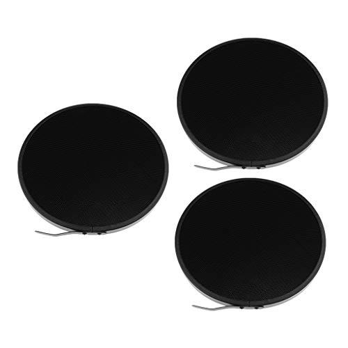balikha Paquete de 3 Rejillas de Nido de Abeja de 10 Grados para Pantalla de Lámpara Difusora Reflectora de 7 Pulgadas