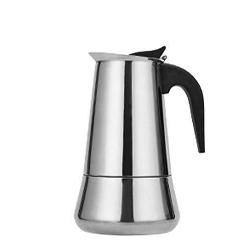 Cafetera Italiana, Cafetera Moka Cafetera De Acero Inoxidable, Olla Moka, para La Estufas De Gas, Placa De Inducción 2, 4, 6 Tazas