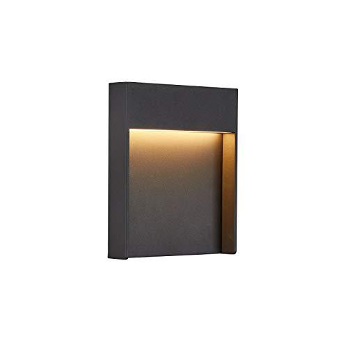SLV LED Wandleuchte FLATT für die Außenbeleuchtung von Hauseingang, Wänden, Wegen, Terrassen, Fassaden, Treppen   LED Wandlampe, Aussenleuchte, Gartenlampe // CCT Switch (3000K/4000K), 460 Lumen, 14W
