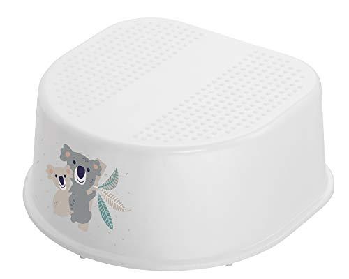 Rotho Babydesign Tabouret ,Base et Pieds Antidérapants, Motif Koala, Bella Bambina, Blanc, 20024 0001 CQ
