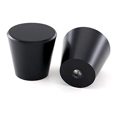 15 pomos redondos para muebles y cajones de estilo moderno, color negro,...