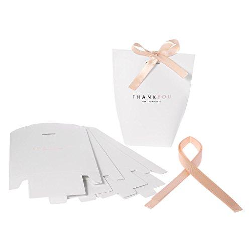 niumanery Merci Papier Snoep Chocolade Cake Boxen Gift Bag Bruiloft Favors Party Decor Zwarte Merci