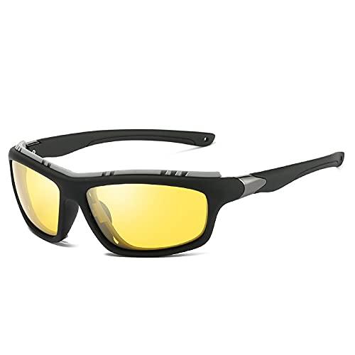 Gafas De Sol Top Mens Polarized Army Goggles Sports Driving Gafas De Sol Uv400 Pesca Hombres Gafas De Sol Tácticas Steampunk para Hombre 2-Gun-Yellow