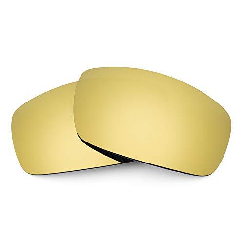 Revant Lentes de Repuesto Compatibles con Gafas de Sol Electric EC-DC XL, Polarizados, Elite Dorado MirrorShield