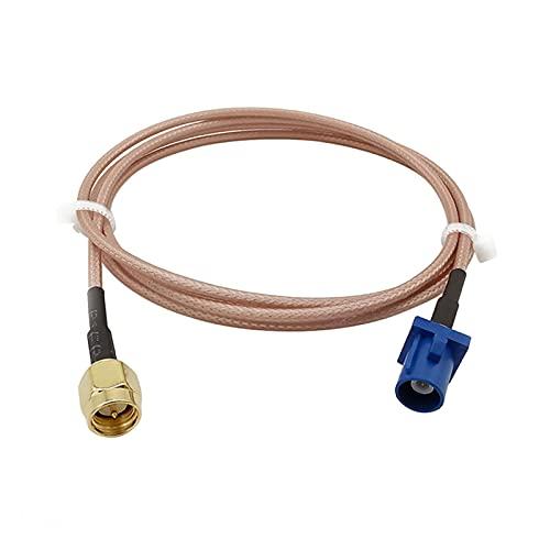NERR YULUBAIHUO SMA Enchufe Masculino a Fakra C Enchufe Masculino Adaptador Recto GPS Extensión de Antena RG316D Doble Shield Silver Cable de Pigtail 1-20m (Color : 6M)