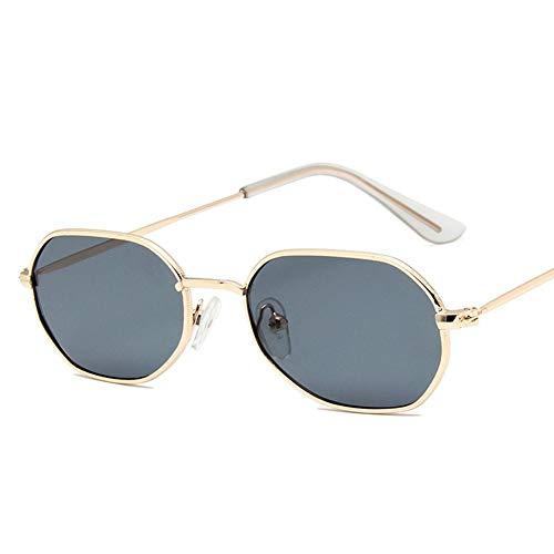2THT2 Kleine Ronde Zonnebril Vrouwen Mode Retro Metalen spiegel Zon Glas goud grijs