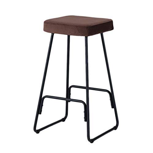 Art De Fer Tabouret De Bar Chaise De Bar Moderne Simple Ménage Tabouret Haut Nordique Chaise De Bar Noir Cadre De Chaise (Couleur : D)