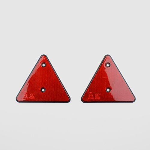 BENSON 2 x Rückstrahler Anhänger Rot Dreieckreflektoren Katzenauge Wohnwagen PKW