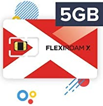 FLEXIROAM International Worldwide Travel SIM Card Microchip Sticker 7GB Valid for 360 Days - Use Roaming Internet in Over 150+ Countries Without Changing Your SIM Card