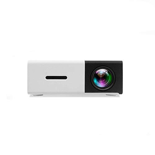 Tragbarer LED Projektor, Mini Full HD Multimedia Beamer 400-600LM 1080p Video 320 x 240 Pixel Unterstützung AV/USB / HDMI/TF für Home Büro Theater(Schwarz)