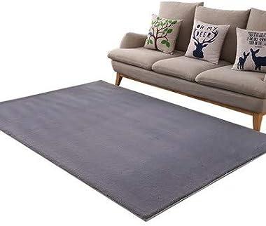 Modern Soft Fluffy Shaggy Area Rug Rectangle Non-Slip Plush Furry Fur Rugs Soft Shag Area Rug Fur Living Room Carpets Modern
