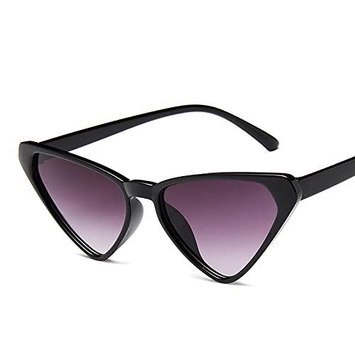 WANGZX Diseño De Marca Gafas De Sol con Forma De Ojo De Gato Gafas De Sol Retro con Degradado para Mujer Gafas De Lujo De Moda para Mujer Uv400 C1