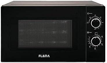 Flama Microondas Negro 1888FL, 700W, Capacidad de 20L, Función Grill con Potencia de 1000W, Función de Descongelación