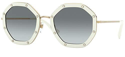 Valentino Gafas de Sol VA 2042 White/Grey Shaded 55/23/140 mujer