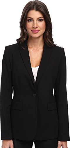 Calvin Klein Women's 1 Button Jacket, Black, 16