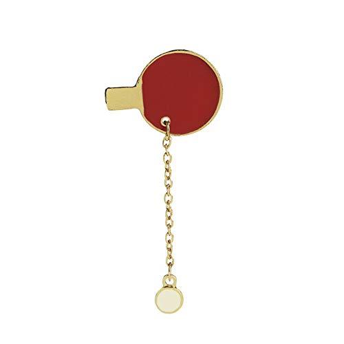 MHKJ Lindo Broche Creativo Ping Pong Forma de Paleta Broches Novedad Insignia Pin Accesorios para Ropa Camisa Chaquetas Abrigos Corbata Sombreros Gorras Bolsas (Pattern : A2)