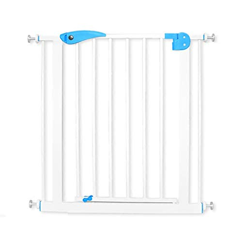 LSRRYD Expandable Pet and Baby Gate Pure Iron Rod Safety Fence Double Locked for Doorways Stairways & Hallways Indoor & Outdoor (Size : 75x84x76cm)