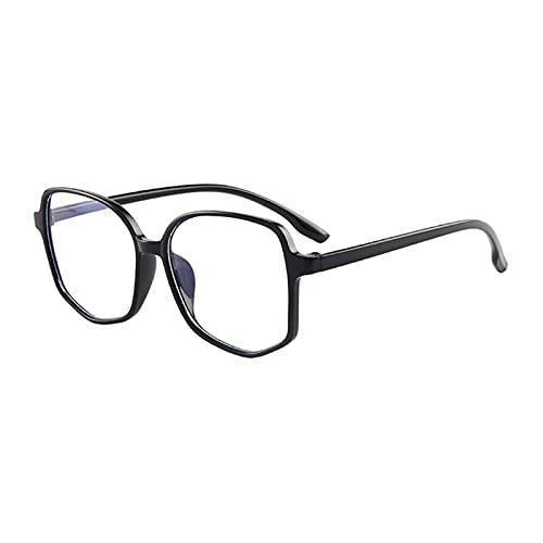 yqs Gafas de Lectura Tendencias Oficina Anti Blue Light Gafas de Gran tamaño Computadora Mujer Blue Blocking Gaming Tamaño Grande Hombres Marco de anteojos (Frame Color : D)