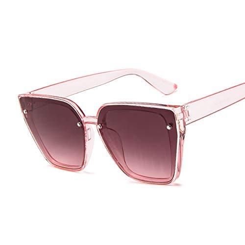 NXMRN Gafas De Sol Gafas De Sol De Lujo De Gran Tamaño para Mujer, Gafas De Sol Retro De Moda, Gafas De Sol para Mujer-Rosa