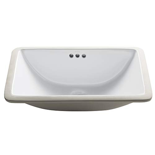 Kraus KCU-241 Elavo Bathroom Undermount Sink, 21 Inch, 24 Inch