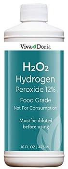 Viva Doria Hydrogen Peroxide 12 Percent Aqueous Solution - Food Grade 16 Fl Oz