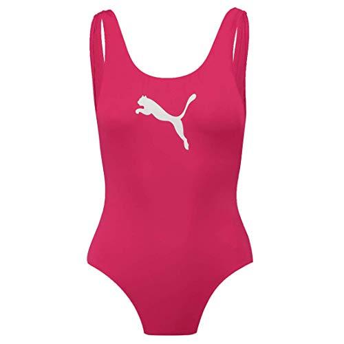 PUMA Swim Damen Badeanzug Schwimmanzug Bademode, Bekleidungsgröße:XL, Farbe:Pink