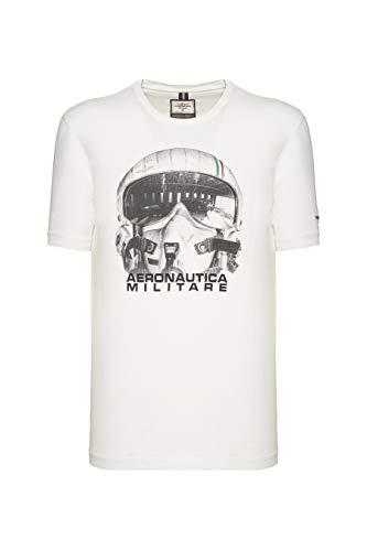 Aeronautica Militare Camiseta TS1720, gris, para hombre, camiseta Off White 3XL