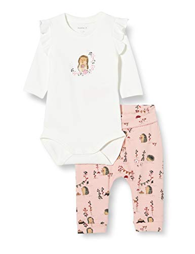 NAME IT Baby-Mädchen NBFKAREN LS Set Body, Snow White, 68