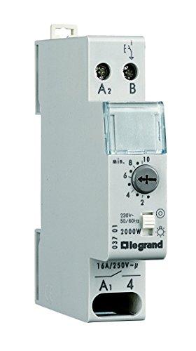 Legrand, Treppenlicht-Zeitschalter RexEMPlus, 230 V, 50/60 Hz, 1-modulig für Hutschiene und Nulldurchgangsschaltung, 003701