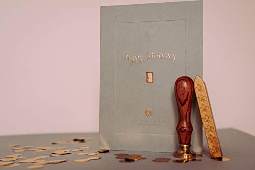Geburtstagskarte mit dem Geschenk von 1 Gramm, 24 Karat Gold