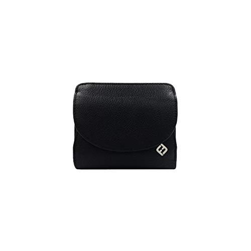 RFID Geldbörse Damen Leder, schwarz - RFID Blocker, Münzfach | Damen Portemonnaie klein, Portmonee, Geldbeutel, Damenbörse, Brieftasche Damengeldbörse Damenportemonnaie, Damengeldbeutel, NFC Münzbörse